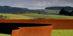 Te Tuhirangi Contour by Richard Serra, Gibbs Farm, Kaipara Harbour , New Zealand. Richard Serra, Abstract Sculpture, Sculpture Art, Garden Sculpture, Outdoor Sculpture, Beaux Arts Paris, Steel Sculpture, Metal Sculptures, Bronze Sculpture