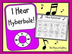 Hear Hyperbole Here's a FREE and fun practice page for your students involving hyperbole!Here's a FREE and fun practice page for your students involving hyperbole! 6th Grade Reading, 6th Grade Ela, 4th Grade Writing, Fourth Grade, Reading Workshop, Reading Skills, Teaching Reading, Teaching Aids, Reading Lessons