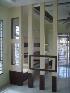 new latest ultimate partition design gallery.partition design between kitchen and lobby Living Room Partition Design, Room Partition Designs, Partition Walls, Divider Design, Wall Design, Divider Ideas, House Design, Ceiling Design, Sofa Design
