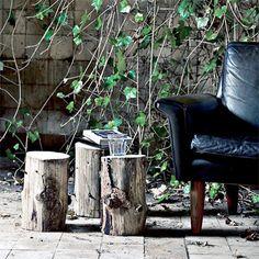 Leather + Wood // Garden way