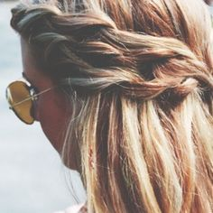 Sandy Blonde Hair & Sunglasses
