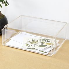 Clear acrylic display box with drawer