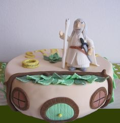 Tarta fondant, cake, señor de los anillos, the lord of the ring