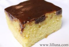 Boston Cream poke cake.