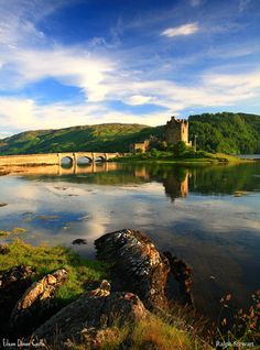 Eilean Donan Castle, Scotland. The castle is very interesting, but the best part is the kitchen area, which is set up as if in preparation for a banquet. The model butler, hostess and maids are very lifelike, and the food looks so deliciously realistic that You will have to resist the urge to stir the soup or sample a little pie.