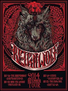 Andrew Ghrist Reignwolf Tour Poster World Premiere Exclusive