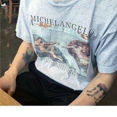Michelangelo Grey T Shirt