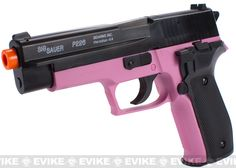 Sig Sauer Licensed P226 Spring Powered Airsoft Pistol - (Black / Pink)