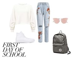 """Untitled #193"" by nevaeh678 on Polyvore featuring Miss Selfridge, Converse and So.Ya"