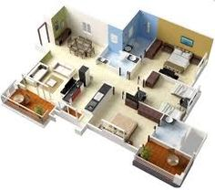 2 bedroom layout03 Design Pinterest Bedrooms House and