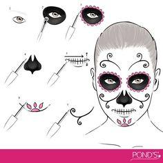 Make up Halloween/ día de muertos maquillaje