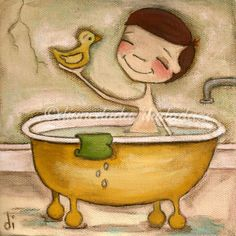 Bath time Fun print  ©dianeduda/dudadaze