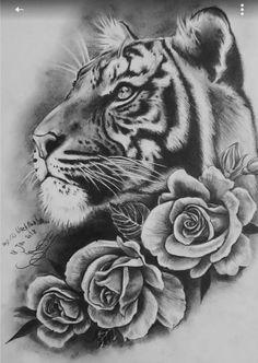 Nice Grey Ink Tiger Head Tattoo Tattoo Uploaded By Alyona Tiger Tattoo Design Tigertattoo 30 Tremendous Black And Grey Tattoos 75 Traditional Tiger Tattoo Designs For Men Striped Ink Ideas Tiger Head Tattoo, Tiger Tattoo Design, Head Tattoos, Rose Tattoos, Arm Tattoo, Body Art Tattoos, Sleeve Tattoos, Tattoo Designs, Tiger Tattoo Thigh