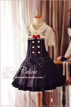 Dear Celine Little Sailor Pinafore Dress