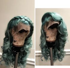 Hair Grade: Magic Love Hair Unprocessed Virgin Human Hair Hair Length: inches In Stock Hair Color: Green Afro, Lace Front Wigs, Lace Wigs, Scene Hair, Bath & Body Works, Hair Colorful, Green Wig, Corte Y Color, Hair Laid
