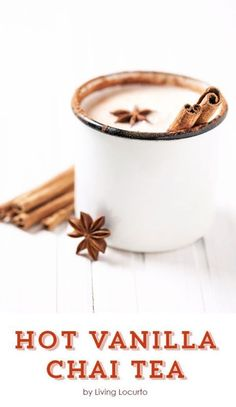 Are you a fan of hot drinks? Vanilla Chai Tea is a fan favorite! It has a unique blend of delicious flavors you are sure to fall in love with. Vanilla Chai Tea is not only creamy,. Smoothies, Smoothie Drinks, Non Alcoholic Drinks, Beverages, Cocktails, Cocoa, Vanilla Chai Tea, Chai Tea Recipe, Café Chocolate