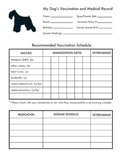Printable Dog Shot Record Forms Cute Pets Dog Shots Dog within Dog Vaccination Certificate Template - Professional Templates Ideas Dog Care Tips, Pet Care, Puppy Care, Puppy Shot Schedule, Schnauzer, Training Tips, Dog Training, Pets, Thoughts