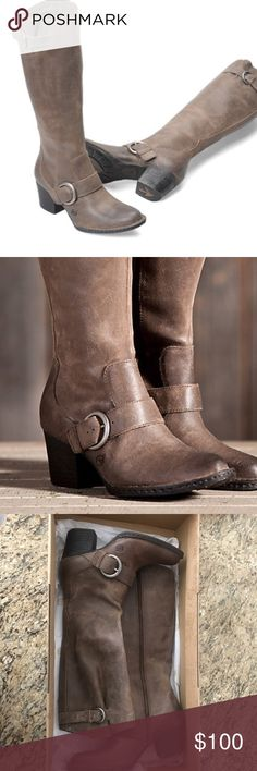 Born Shaylee Brown Leather Boots- NWT!!!! Born Shaylee Brown Leather Boots- NWT!!!! Born Shoes Heeled Boots