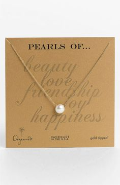 save of Dogeared Boxed Freshwater Pearl Necklace on Wanelo Jewelry Box, Jewelery, Jewelry Accessories, Fashion Accessories, Fashion Jewelry, Jewelry Design, Just In Case, Just For You, Freshwater Pearl Necklaces