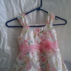 Emily Rose Girls Floral Size 6 Pink Bow Lined Party Tea Dress Sleeveless…