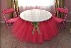 toalha de tule - para festa da bailarina pink