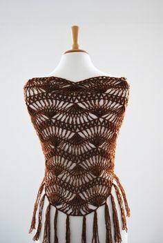 hairpin lace crochet shawl
