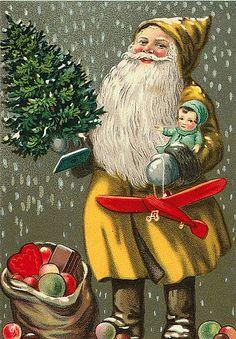 Vintage Santa/Christmas Postcard http://www.flickr.com/photos/suzee_que/4153943575/in/set-72157608733906830/