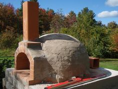 Building my Wood Fired Oven – Construction Walk-through pt2…Oven floor, dome & chimney vent. | Old World Stone & Garden