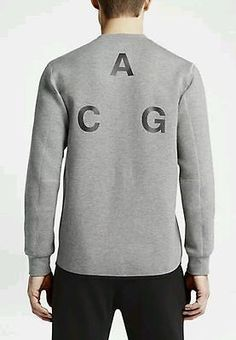 Nike Lab ACG Crew Grey Black 3M Reflect Crewneck Sweater Tech 705356 091  MEN - S  Clothing 9c47efab1f7b2