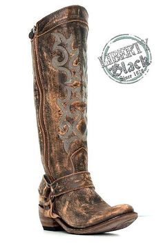Liberty Black | Vintage Distressed Boot