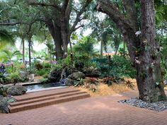 Lovely garden venue hidden in Davie, Florida Garden Venue, Wedding Ceremony, Sidewalk, Florida, Sculpture, Beautiful, The Florida, Walkways, Sculpting
