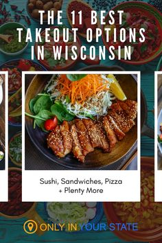 Discover 11 of the best restaurants in Wisconsin that offer takeout and delivery. Dining to-go food options include pizza, Chinese, sushi, sandwiches, gyro's and more. Locations include Madison, Milwaukee, OshKosh, and others. Food To Go, Good Food, Food And Drink, Take Out, Yummy Drinks, Milwaukee, Wisconsin, Sushi, Restaurants