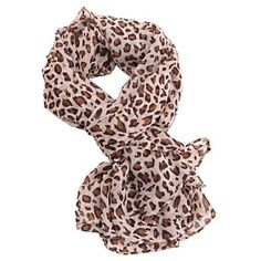 HDE Animal Print Long Silk Wrap Scarf - One Size - Light Leopard HDE. $3.95
