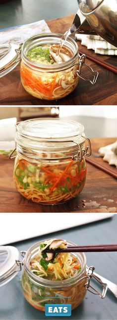 These DIY instant noodle jars are packed with fresh ingredients and go from fridge to ready-to-eat in just 2 minutes with a kettle of boiling water.