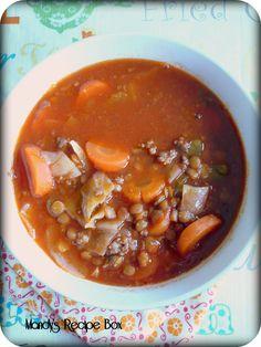 Lentil & Cabbage Soup | Mandy's Recipe Box