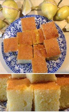 Saftig … süss … zitronig … köstlich … … türkischer Zitronen-Jogurth-Grieß-Kuchen. Viel mehr dazu in Bild und Wort und Rezept auf LILAMALERIE.DE