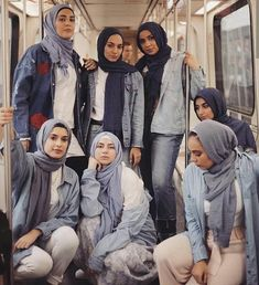 Behind every successful woman is a tribe of other successful women who have her back 👑 How stunning do these ladies look 💙🤩 RAMADAN SALE Casual Hijab Outfit, Hijab Dress, Denim Outfit, Muslim Fashion, Modest Fashion, Fashion Outfits, Hijabi Girl, Girl Hijab, Hijab Mode