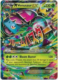Mega Venusaur EX 2/83 Pokemon TCG: Generations, Holo Pokemon Card #pokemon #pokemontcg #pokemoncards