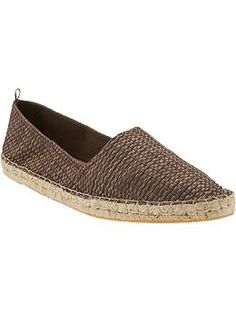 Womens Textured-Canvas Espadrilles from Old Navy
