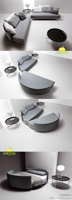 sectional sofa bed. this is genius