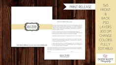 Photo Print Release Form Template   Photography by DovieScottPhoto, $5.79