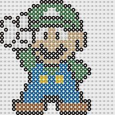 Plantilla Hama Luigi (Mario Bros) www.tuburbuja.es