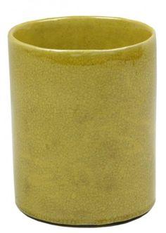 Imperial Yellow Brush Pot
