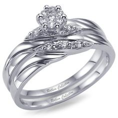 good engagementwedding ring combo with engraving - Cute Wedding Rings