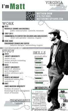 pretty awesome infographic resume created by me! Portfolio Web, Portfolio Resume, Graphic Design Cv, Cv Design, Resume Tips, Resume Cv, Resume Design Template, Resume Templates, Best Cv