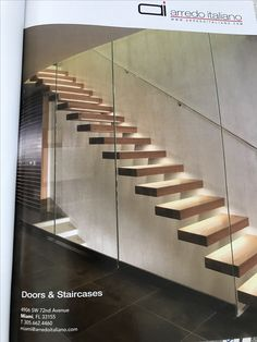 This is done in a very dramatic way but a beautiful staircase is important. Here, I love the floating effect and transparency as well as the lights on each step. Doesn't have to be this but if there's a way to make the staircase more visually appealing without breaking the bank - that would be amazing