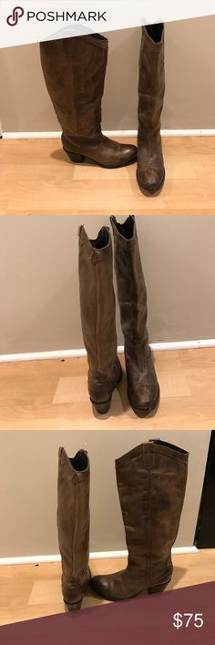 Steve Madden boots Size 8 brown leather boots Steve Madden Shoes Heeled Boots