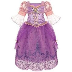 Disney Store Tangled Princess Rapunzel Halloween Costume Dress: Size Medium 7/8