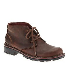 """Clarks Men's Roar Chukka Boots in """"Brown Oily."""" Smarts: Removable Ortholite® insole absorbs shock & stays light on your feet. FootSmart.com"""