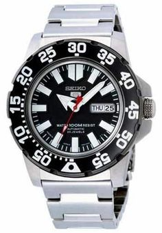 LATEST SEIKO MONSTER SNZF51J1 AUTOMATIC DIVER'S WRIST WATCH WITH 2 YR WARRANY
